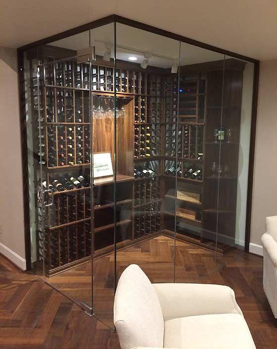 Glass Enclosed Wine Cellar Wijnopslag Wijnkelder Huis Ideeen