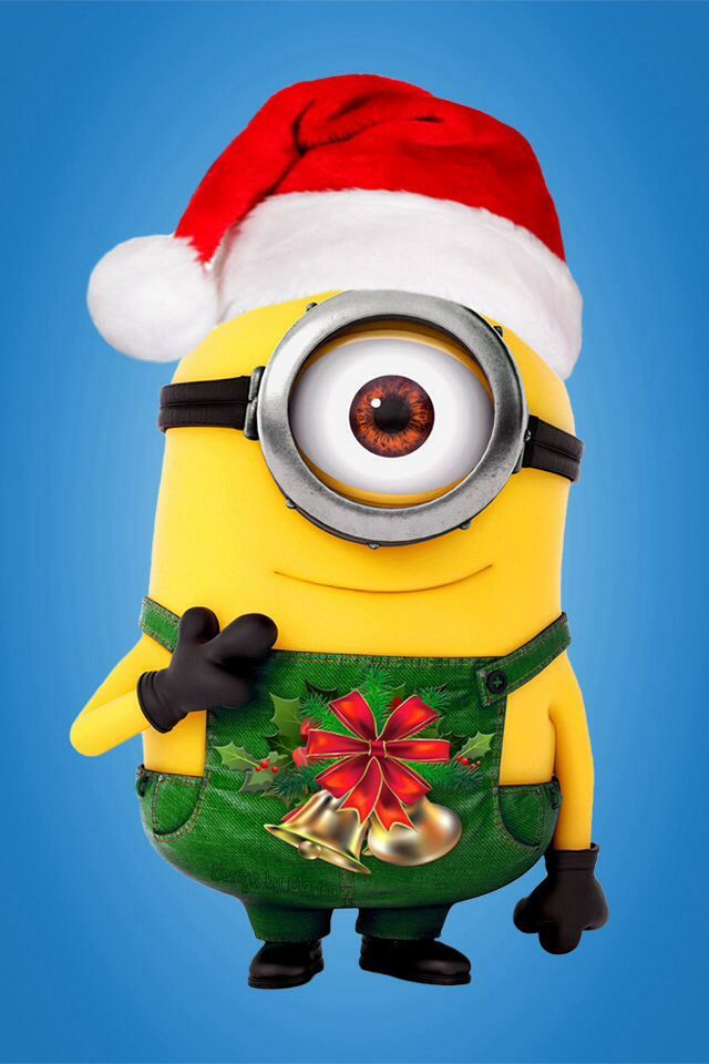 Minions Christmas Iphone Wallpaper Merry Christmas Minions