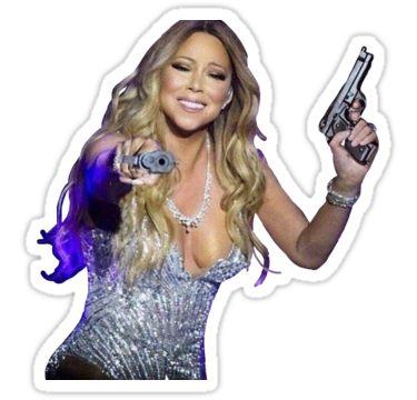 Mariah Carey With Guns Sticker Stickers Adesivos
