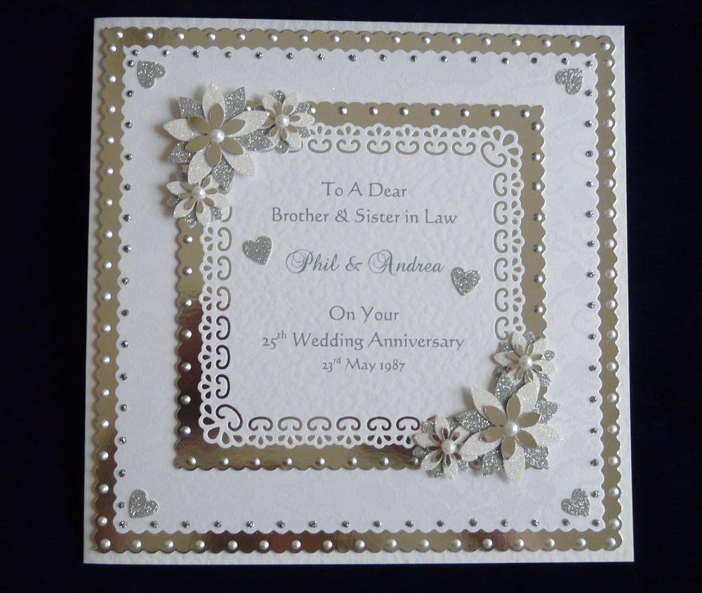 60th Diamond Wedding Anniversary Card Personalised Large Card Ebay Diamond Wedding Anniversary Cards Anniversary Cards Handmade Wedding Anniversary Cards