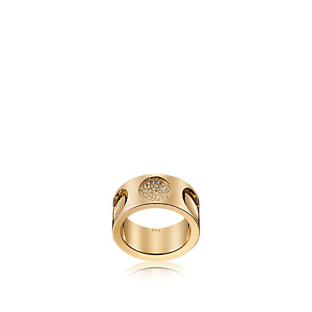 Anillo Empreinte grande de oro amarillo y diamantes - Joyería - Anillos | LOUIS VUITTON