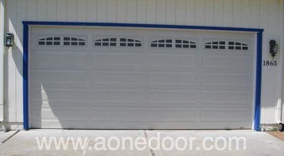 Roll Up Garage Door With Glass By A 1 Overhead Door Company In Santa Cruz Http Www Aonedoor Com Garage Door Installation Overhead Door Door Installation