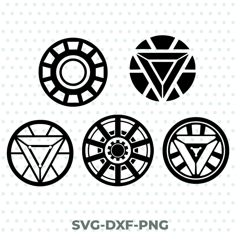 Iron Man Arc Reactors Svg Dxf Png Avengers Solid Skills Iron Man Tattoo Iron Man Arc Reactor Iron Man Logo