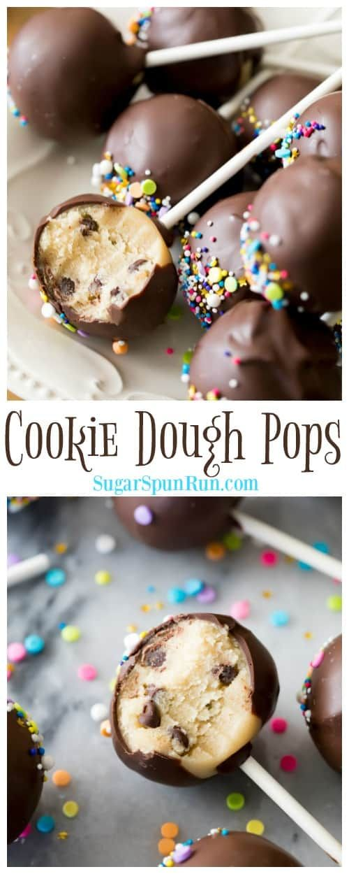 Cookie Dough Pops are so fun to make and eat!! via @sugarspunrun is part of Cookie dough pops -