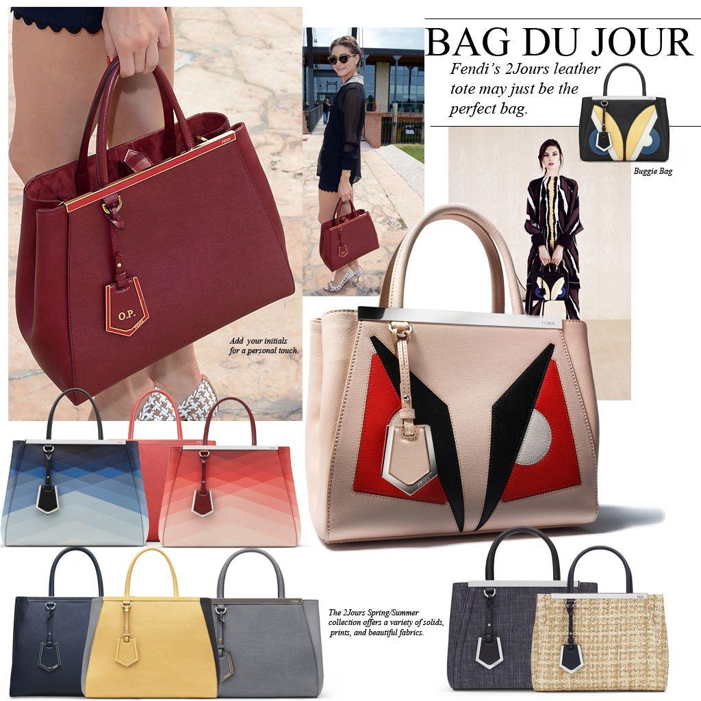 d9df10d16bbe Fendi 2Jours leather tote - LOVE!