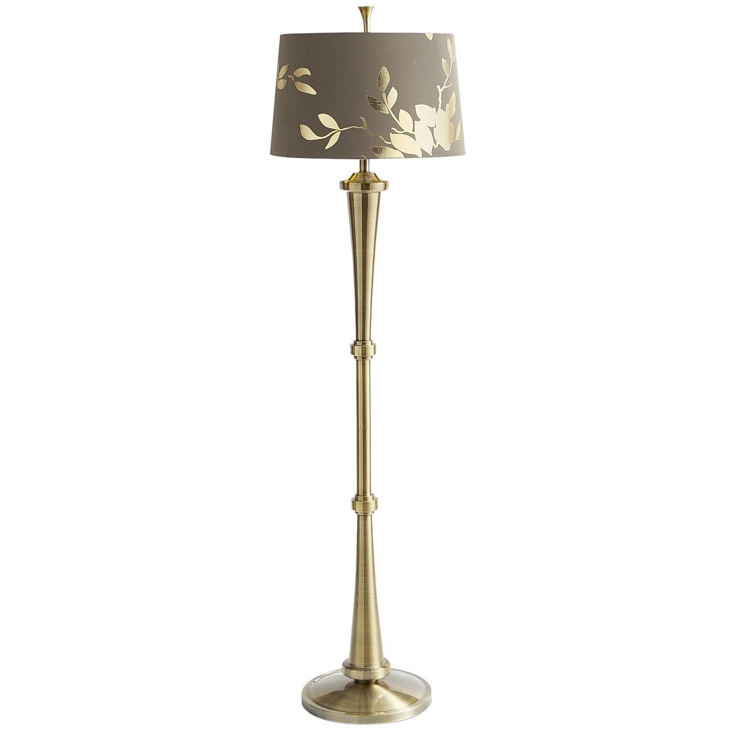 Gold leaf floor lamp pier 1 imports home decoroutdoor living gold leaf floor lamp aloadofball Images