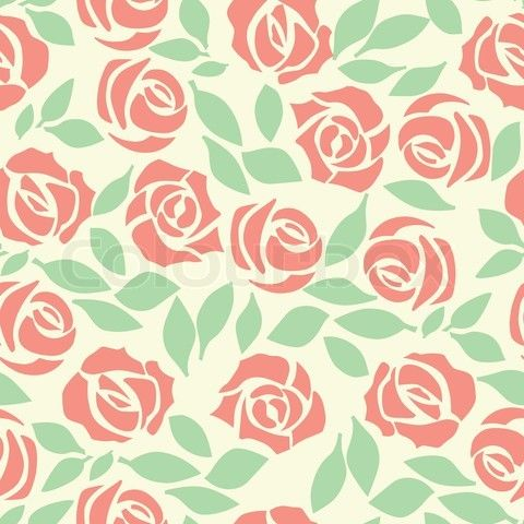 39 vector rose seamless flower background pattern floral