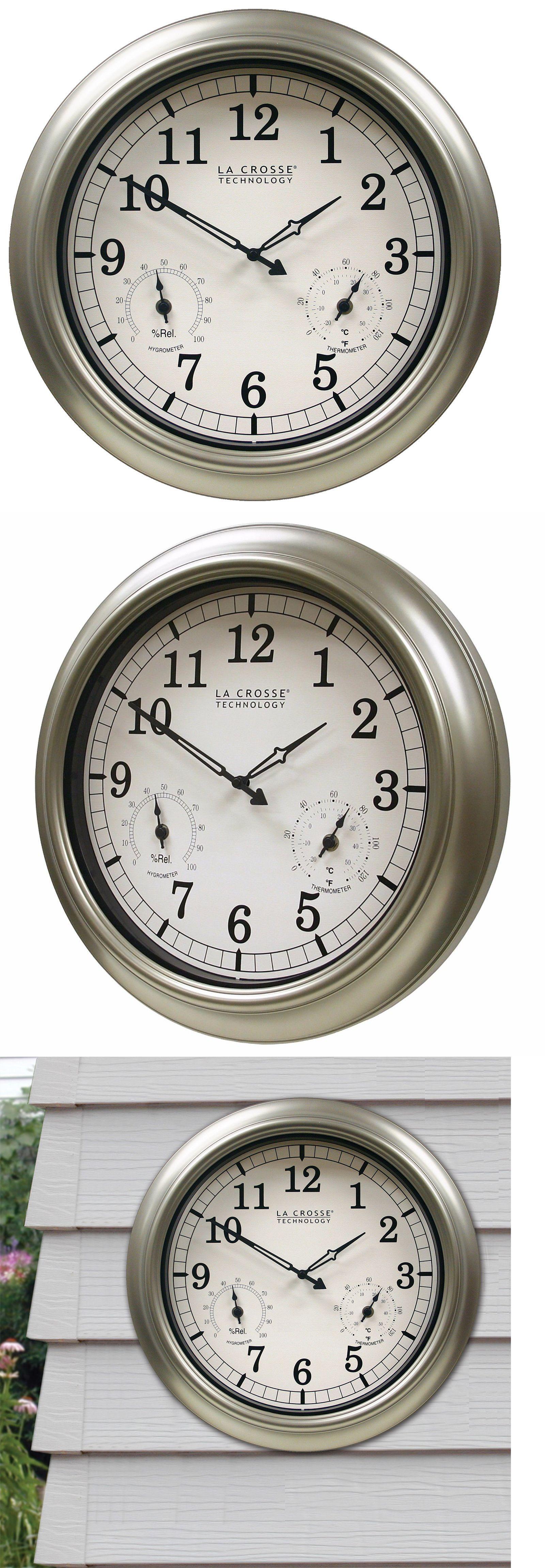 Wall Clocks 20561: Wt-3181Pl-Q La Crosse Technology 18 Indoor Outdoor Wall