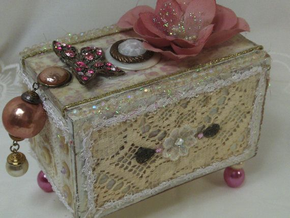 Ideas To Decorate A Box Decorative Box Decorated Box Obsessivelytherubystudio $5500