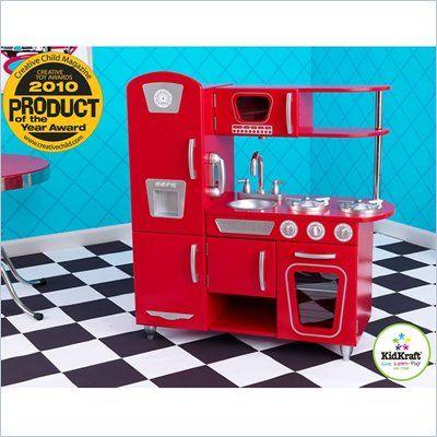 Kidkraft Vintage Play Kitchen In Red