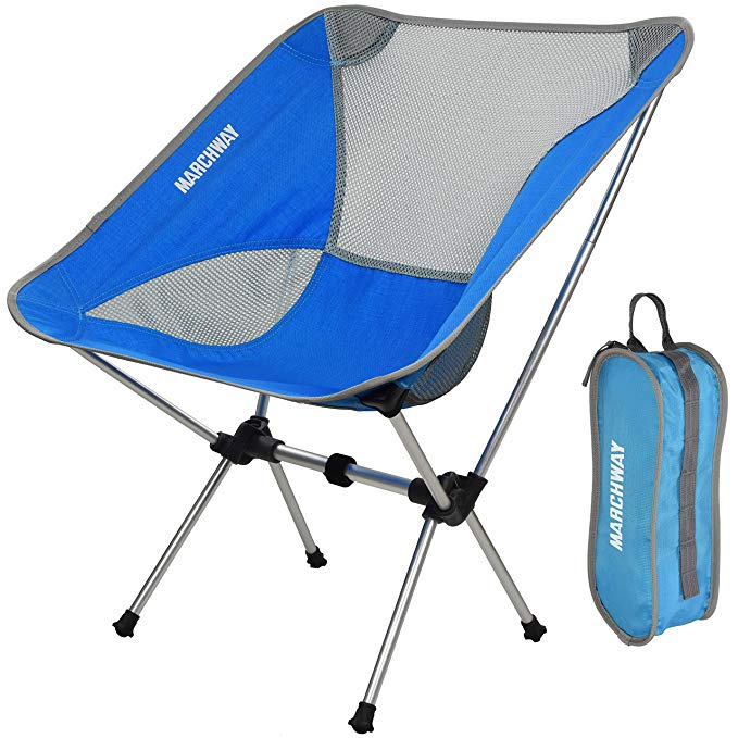 Marchway Ultralight Folding Camping Chair Portable Compact For Outdoor Camp Travel Beach Picnic Fes Folding Camping Chairs Backpacking Chair Camping Chair