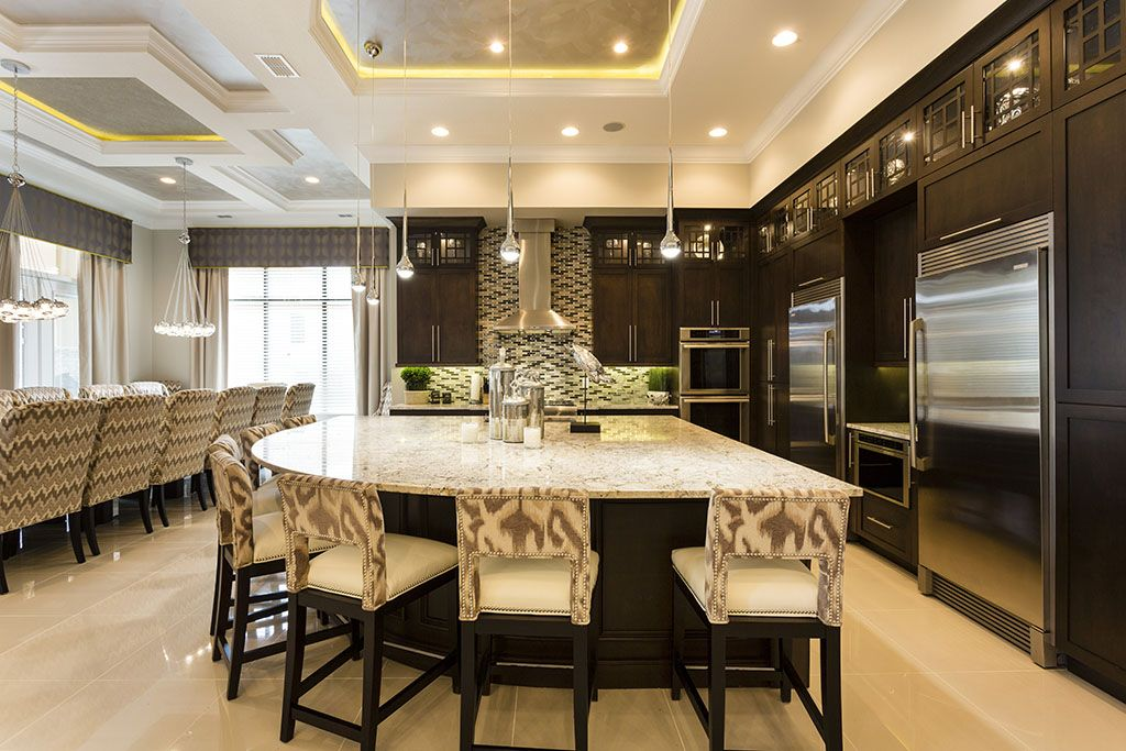 Beautiful Modern Design Takes Center Stage In Orlando Villa Reunion Resort  422u0027s Kitchen.