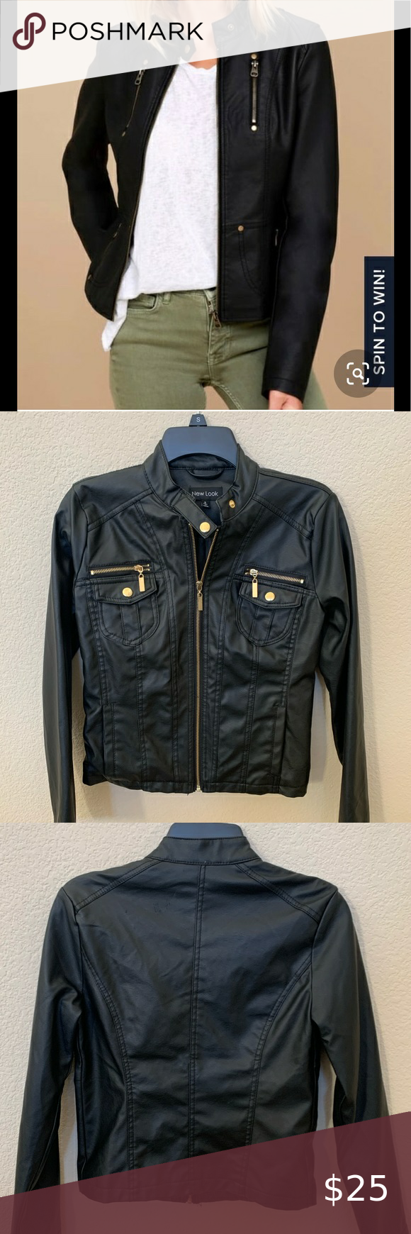 New Look Faux Leather Jacket New Look Jackets Leather Jacket Faux Leather Jackets [ 1740 x 580 Pixel ]
