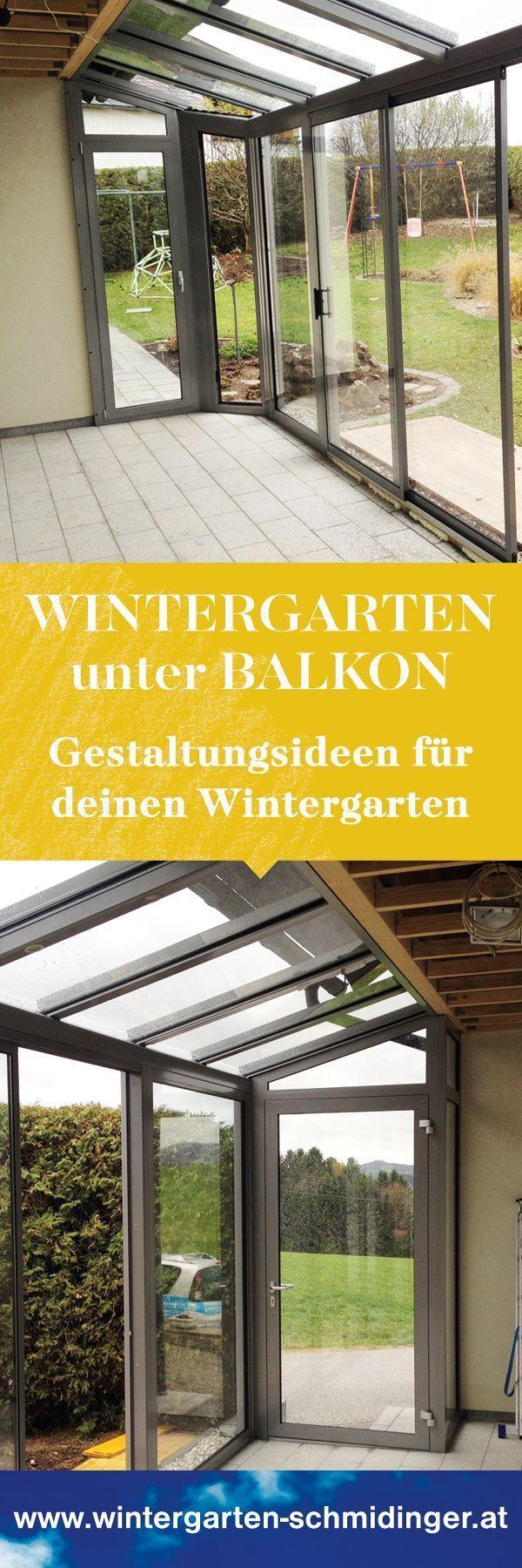 Wintergarten unter Balkon – Erweiterung – # Erweiterung # Balkon # unter # Wintergarten …   – Anbau Haus