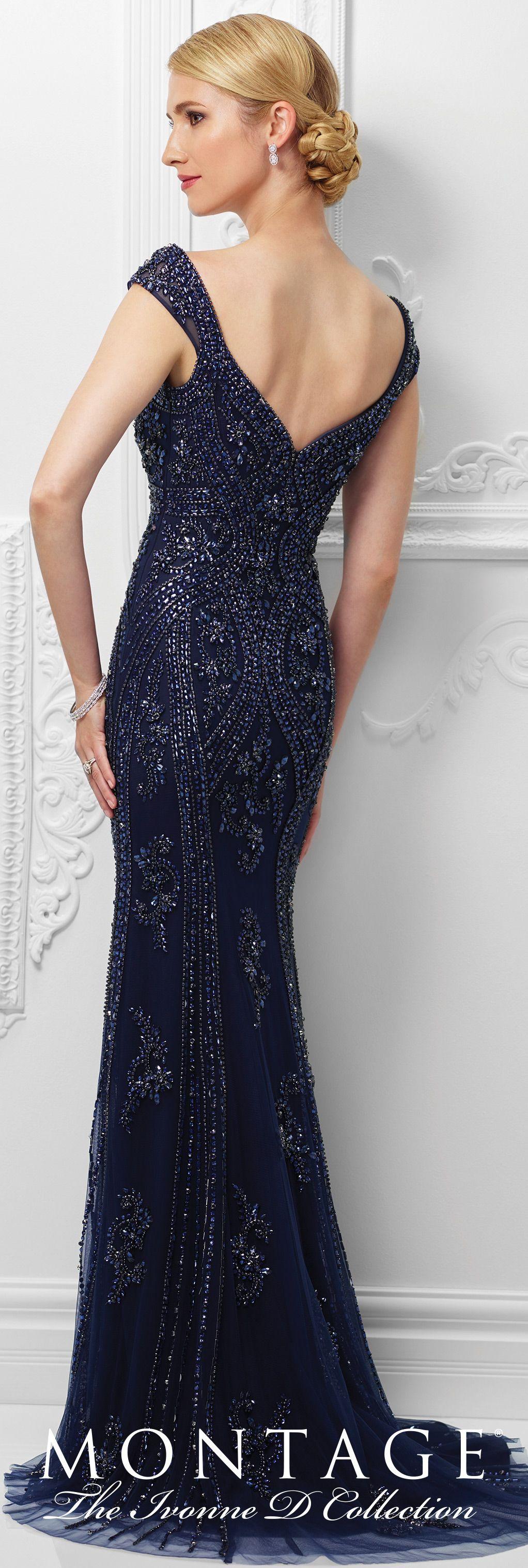 Ivonne d evening dresses d formal cap and navy blue