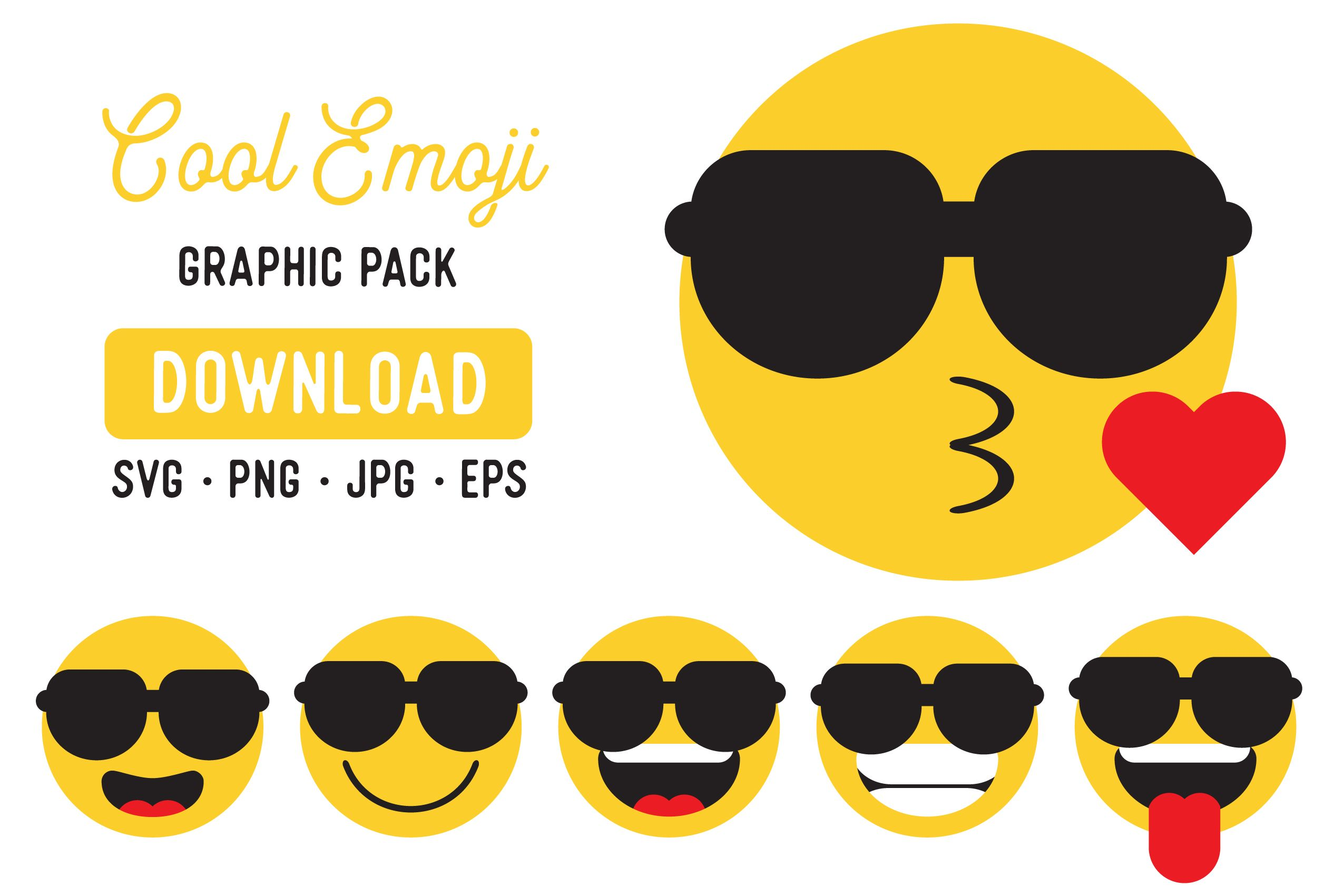 Cool Emoji Vector Graphic Clipart Pack (Graphic) by The