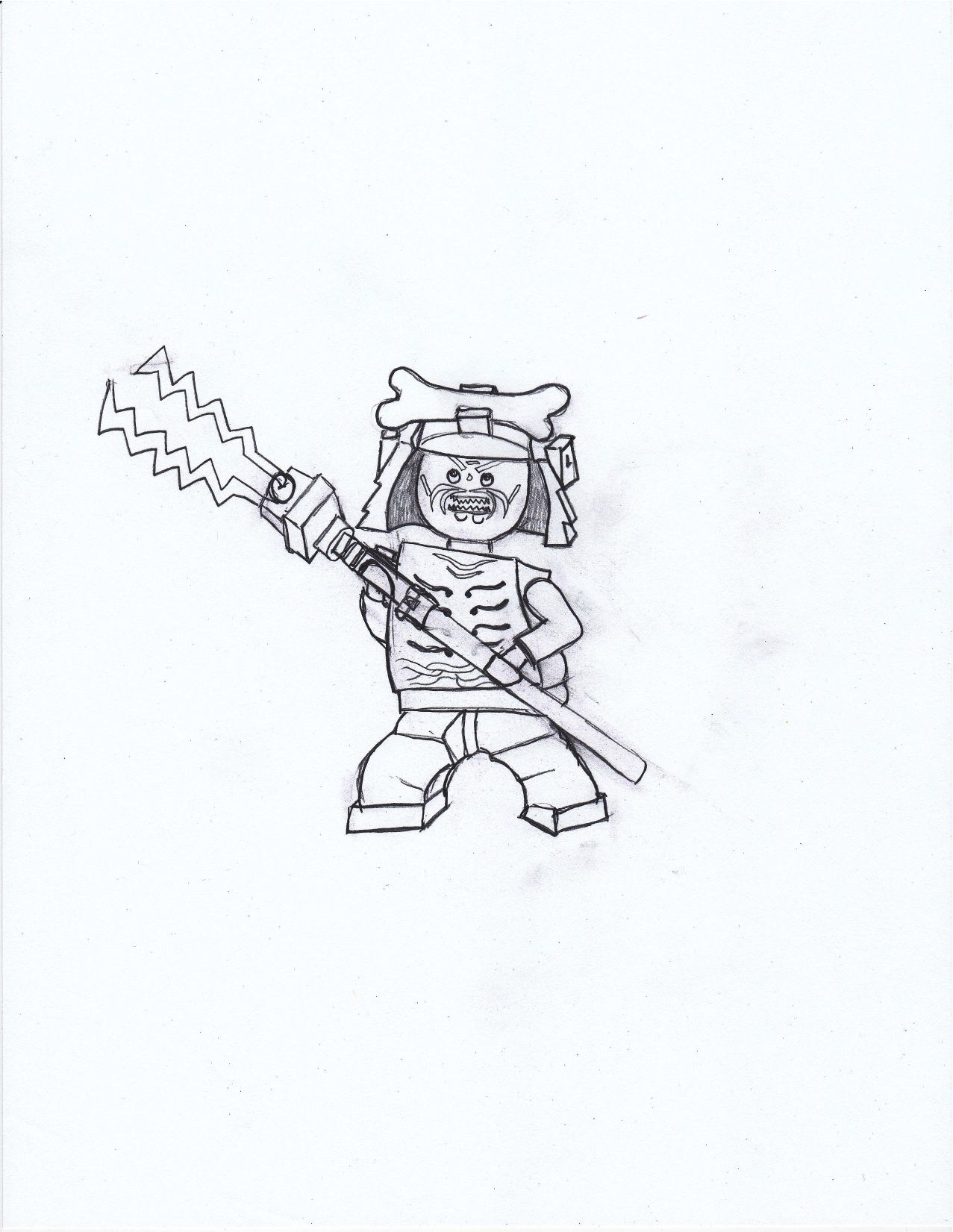 Coloring page (drawn by me) of Lord Garmadon from… | Crafts for Kids ...