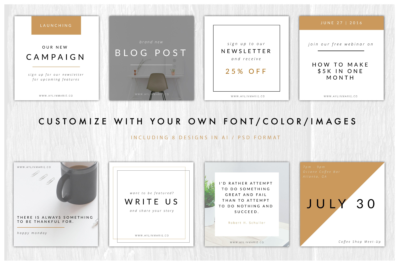 The Blogger - Minimal Instagram Pack