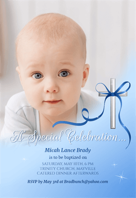 Baby Special Celebration Printable Invitation Template Customize Add Text And Baby Dedication Invitation Boy Birthday Invitations Baptism Invitation For Boys
