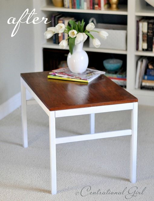 Four Dollar Side Tables Painted Side Tables Side Table Makeover