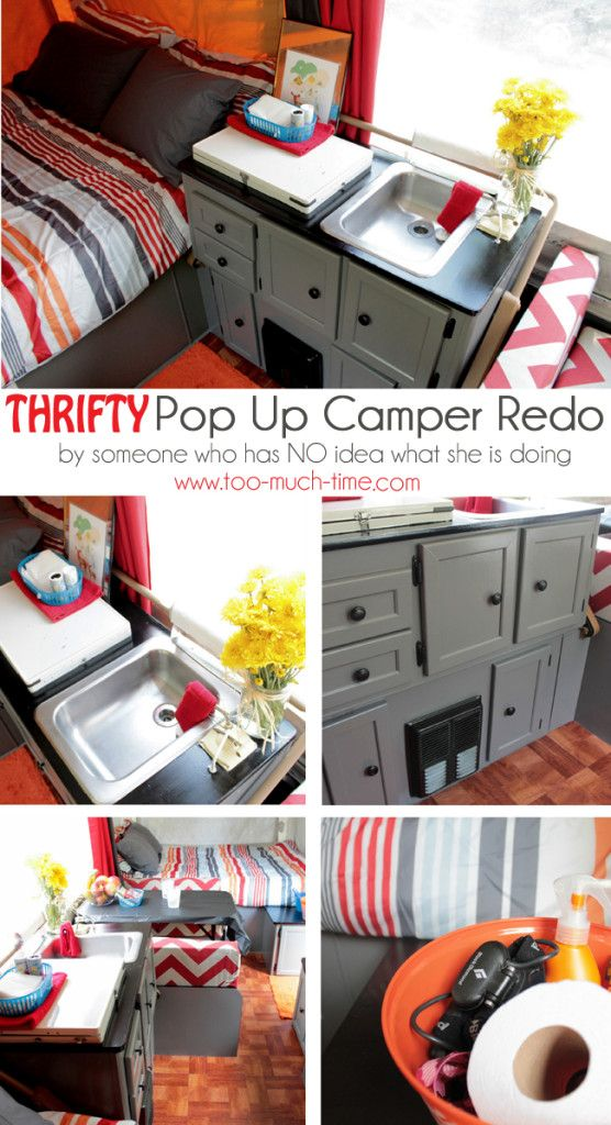 pop up camper renovation on a budget too much time on my hands pinterest roulotte tentes. Black Bedroom Furniture Sets. Home Design Ideas