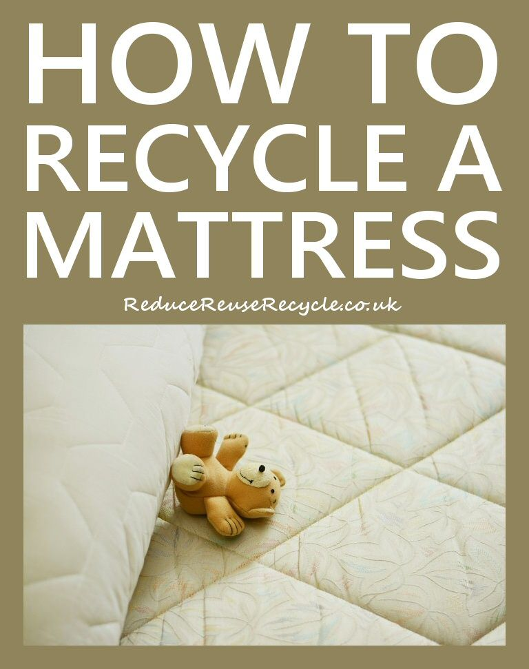 How To Recycle A Mattress Recycling, Mattress, Reduce