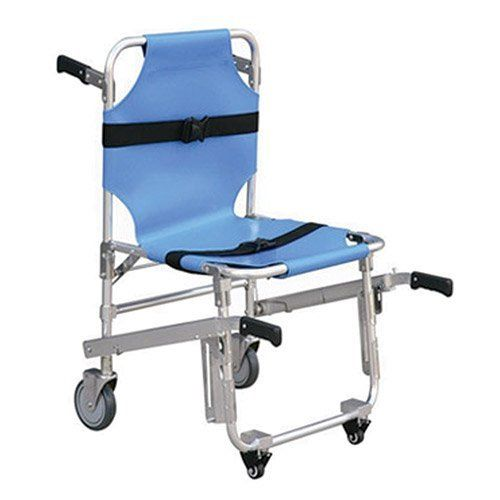 ems stair chair lift up recliner line2design 4 wheels ambulance firefighter evacuation medical transport with quick release buckles