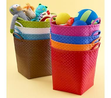 Kids Storage Containers Kids Colorful Woven Floor Storage Baskets