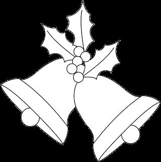 Christmas Bells And Holly Digi Stamp Freebie Please Visit