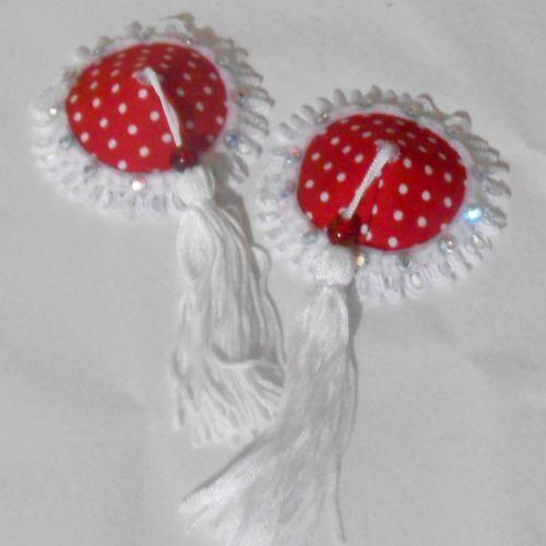 """Fantasy"" Polka Dot Nipple Tassels Pasties Burlesque Choice of Colour | eBay"