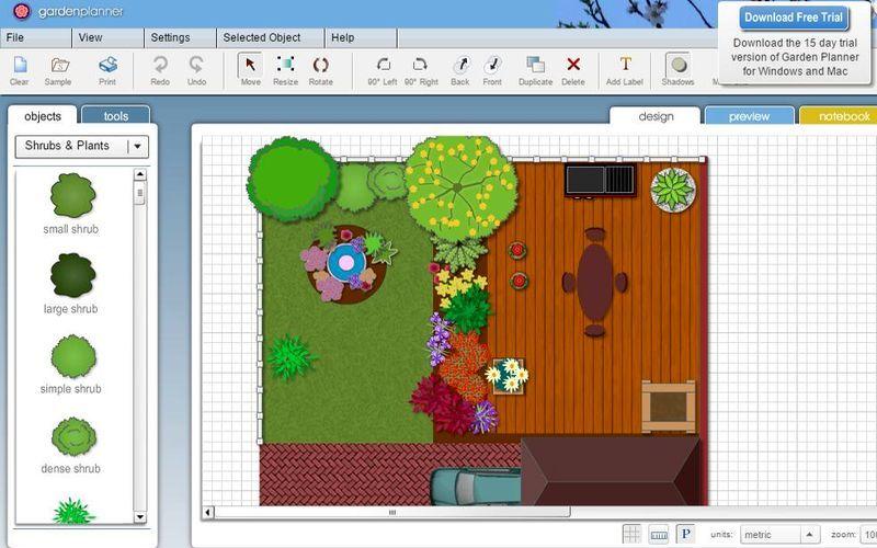Garden Planner Es Una Aplicacion Web Que Podemos Usar De Forma Gratuita Para Crear Plan Free Landscape Design Software Garden Planner Landscape Design Software