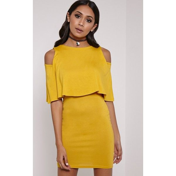 Yellow double layer dress