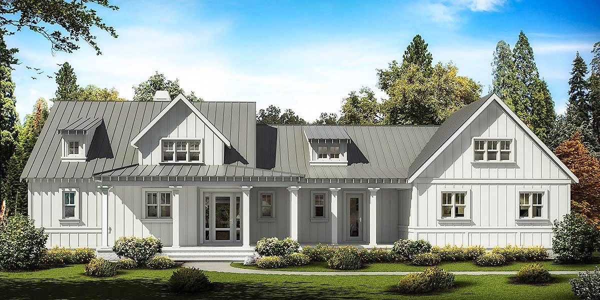 Exciting Farmhouse with Wrap Around Porch   25634GE   Architectural     Exciting Farmhouse with Wrap Around Porch   25634GE   Architectural Designs    House Plans