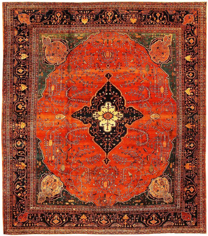 AntiqueSarouk Farahan Persian Rug 43721