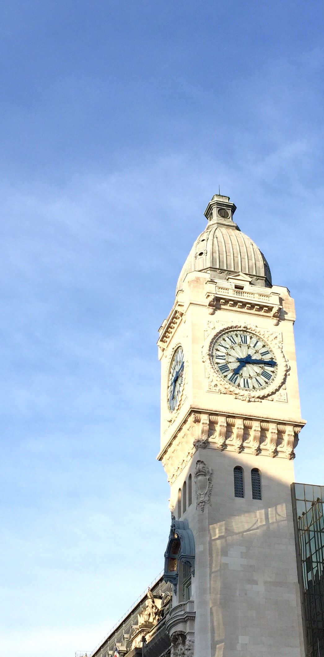 The Clock Tower At Gare De Lyon In Paris France Was Built