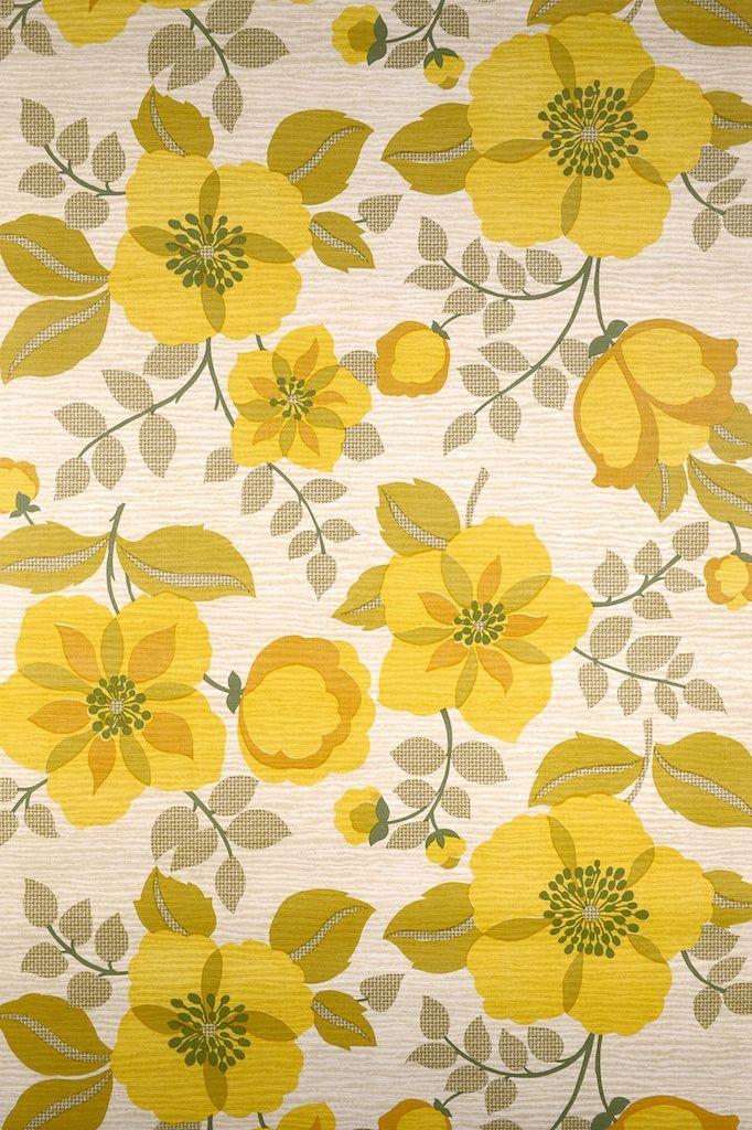 Retro vintage floral wallpaper vintagewallpapers yellowgold retro vintage floral wallpaper vintagewallpapers yellowgold design pattern in 2018 pinterest wallpaper vintage floral wallpapers and floral mightylinksfo