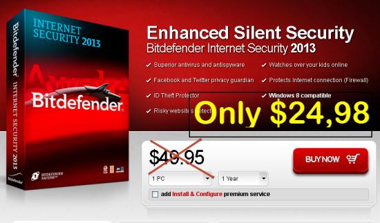 [Discount] Bitdenfender Internet Security 2013 | 50% OFF