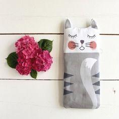 Sacha le chat - bouillotte en graines de lin