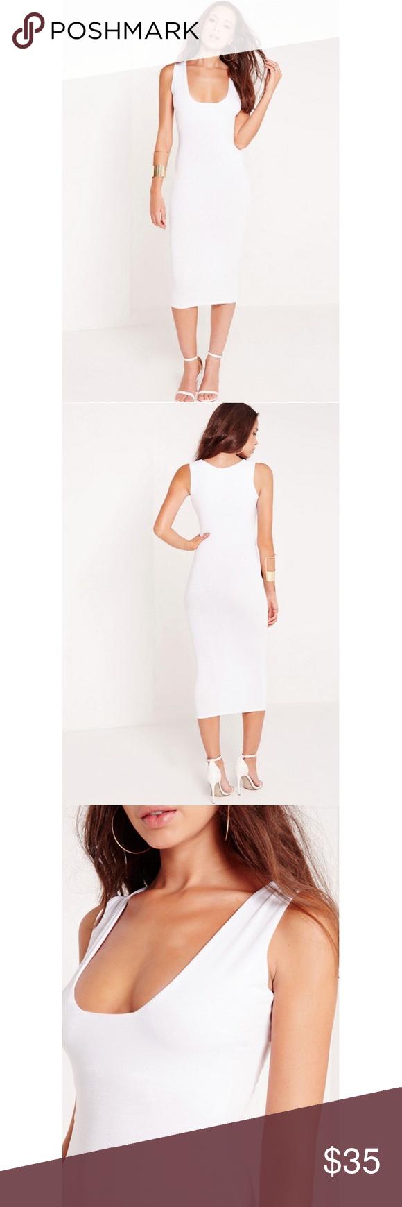 Jersey Square Neck Midi Dress White Dress Size Chart Women White Midi Dress White Lace Midi Dress [ 1740 x 580 Pixel ]