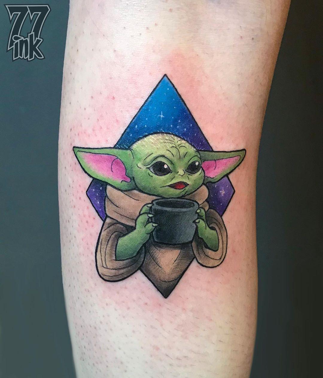 Updated 30 Baby Yoda Tattoos February 2020 In 2020 Star Wars