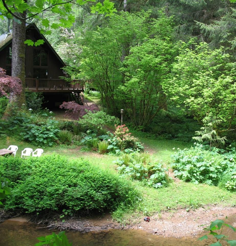 Secluded Riverfront Chalet - Cabins for Rent in Seaside, Oregon