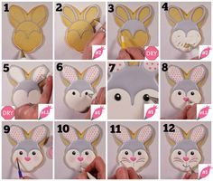 Understand how to add the details on this adorable Easter Bunny Cookie! Flour Box Bakery - How to Decorate an Easter Bunny
