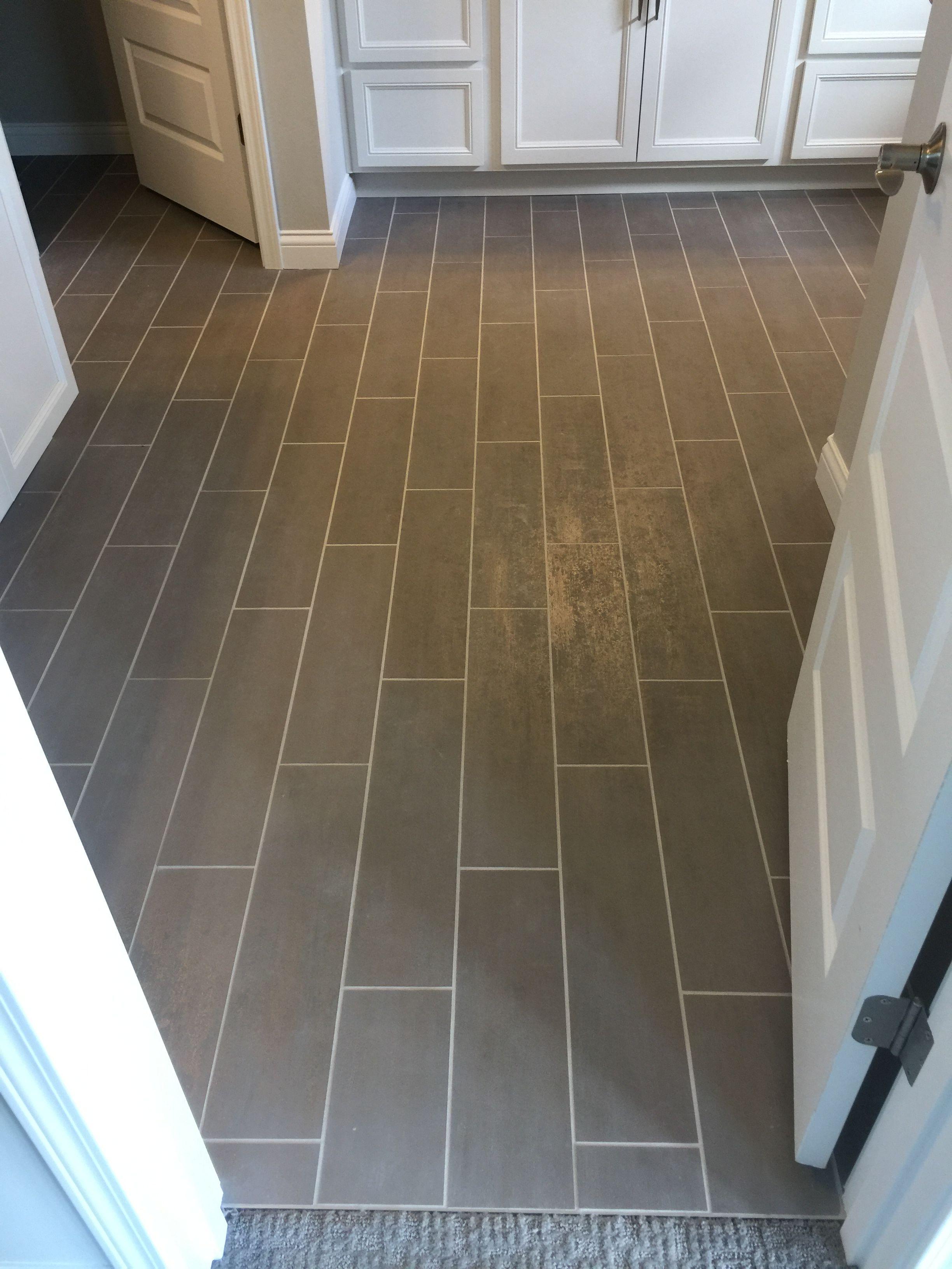 Invoke 6x24 Mystic Way Floor Tile Driftwood Grout Tile Floor