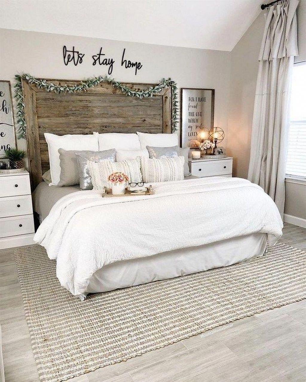 30 Modern Home Decor Ideas: Stylish 30+ Gorgeous Farmhouse Bedroom Remodel Ideas On A