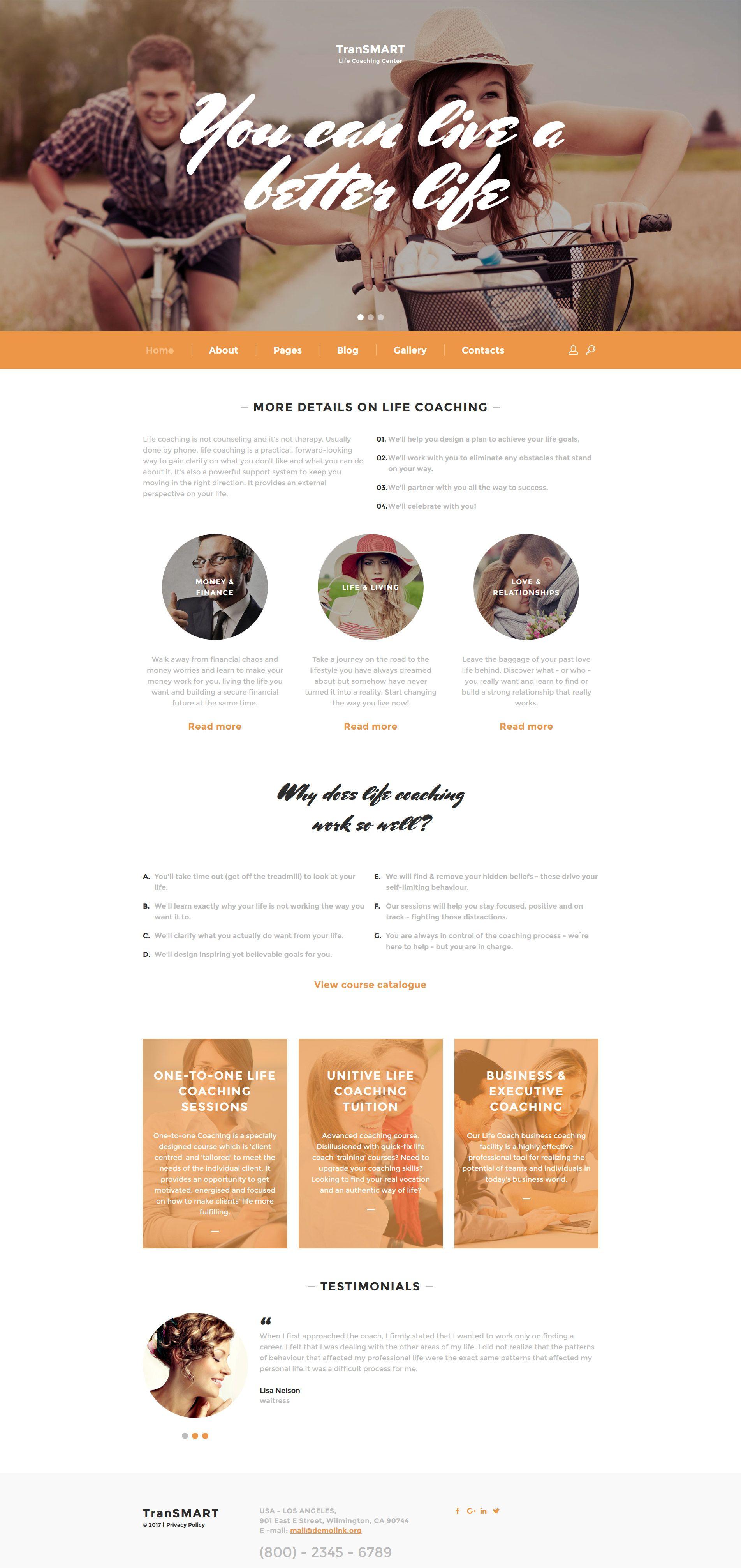Life Coach Responsive Joomla Template Pinterest Template