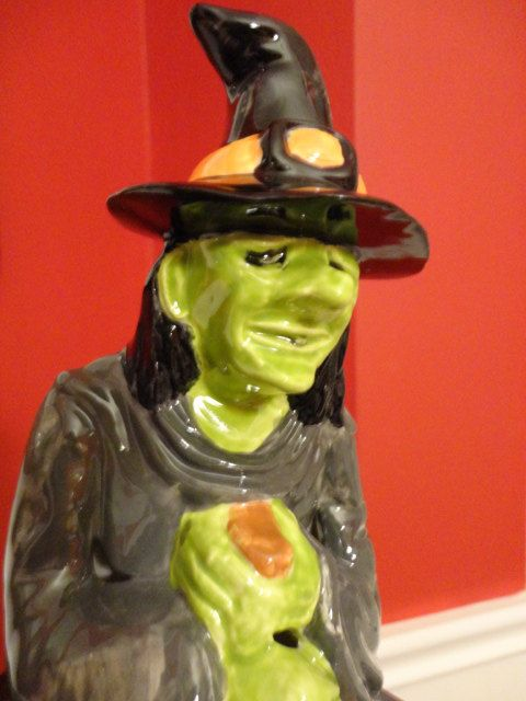 Vintage Halloween Witch with Cauldron 9 inch by Vintologist, $25.00