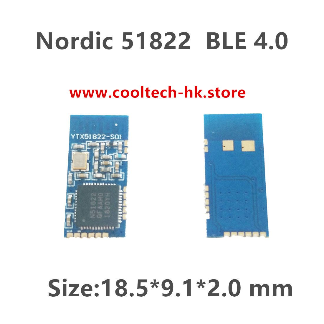 YTX51822-S01 Nordic 51822 Low Cost Bluetooth Low Energy