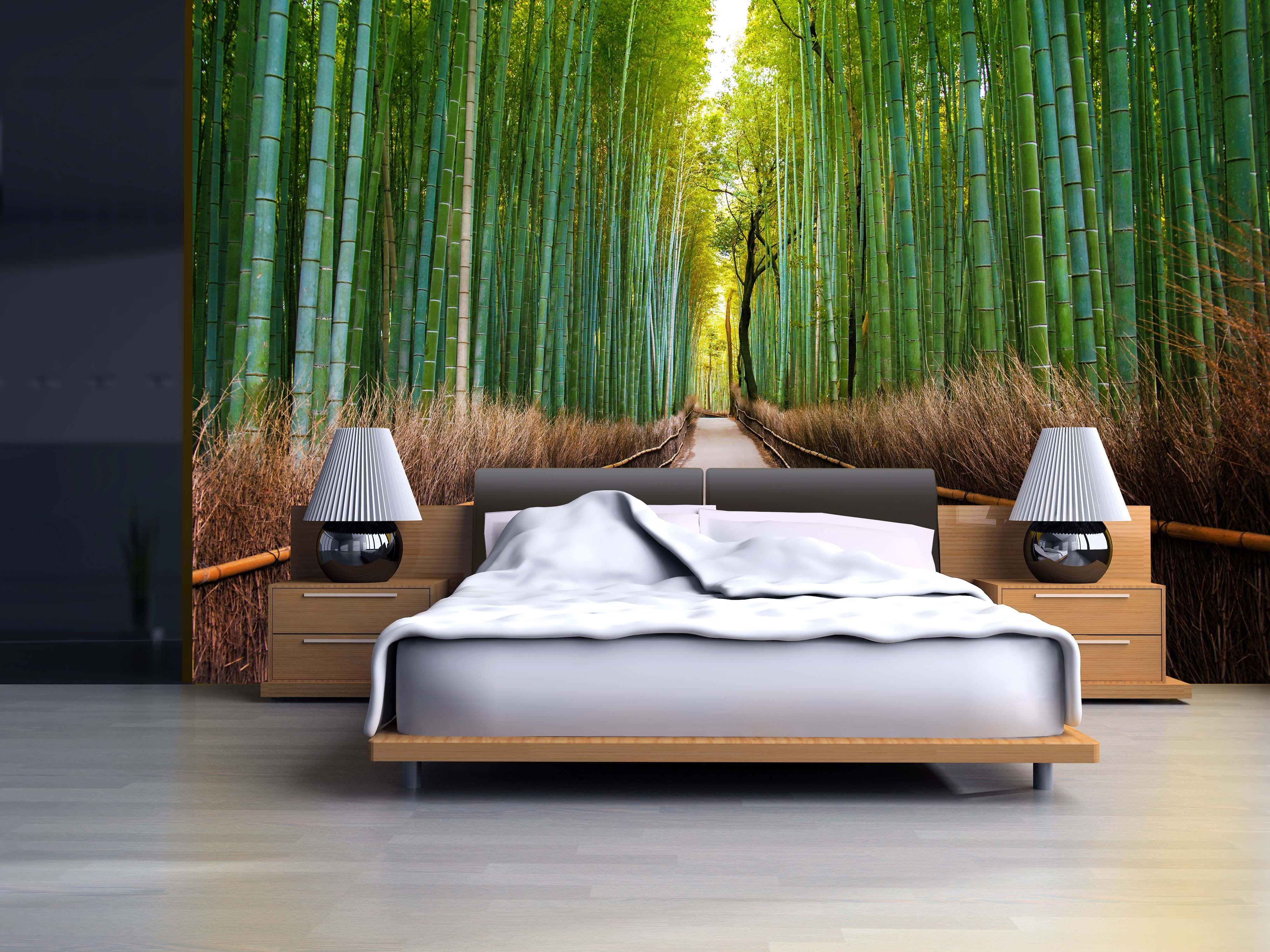 Papel mural bosque de bambu ideas para tus paredes for Papel mural autoadhesivo santiago