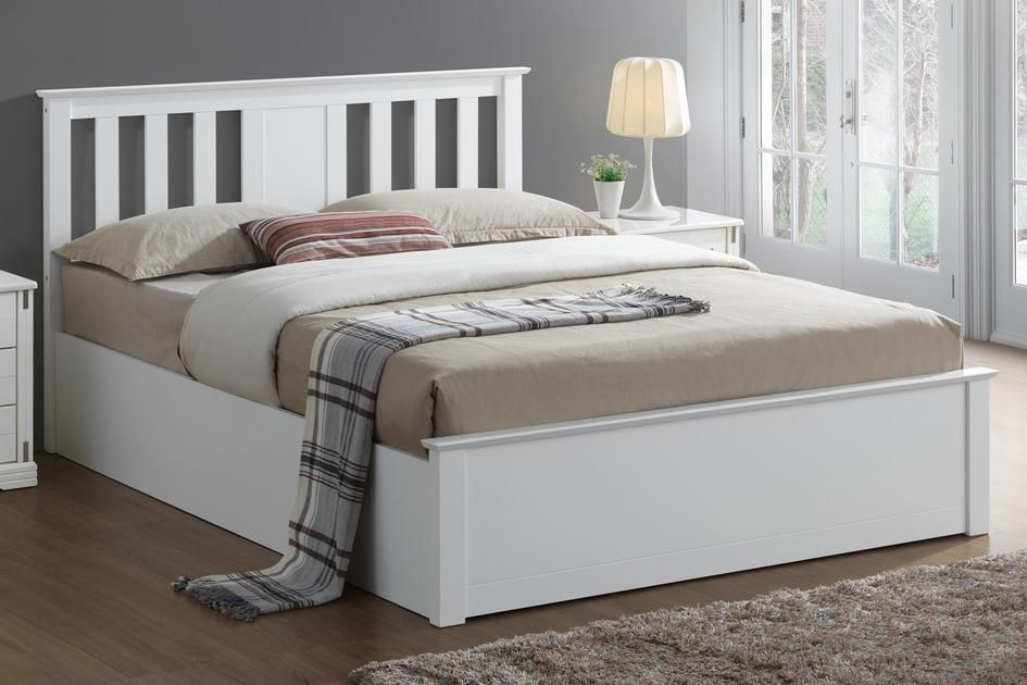 Ottoman Storage Bed Frame In A White Painted Finish Built To Last