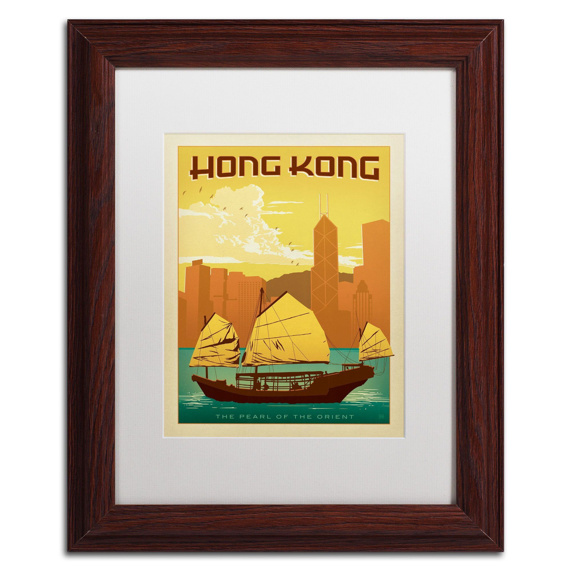 'Hong Kong' by Anderson Design Group Framed Graphic Art